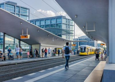 Neubau Straßenbahnhaltestelle Berlin-Hauptbahnhof Tropfleiste